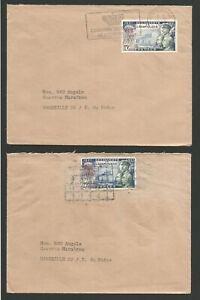 1957 Monaco Timbre Sur 2 Lettres /l1932 Gagner Les éLoges Des Clients