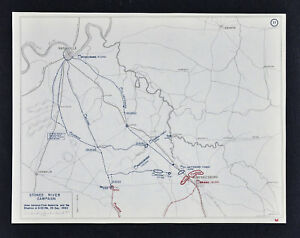 West Point Civil War Map Battle Of Stones River Murfreesboro
