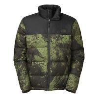 $220 Men's North Face Nuptse Down Jacket Xl Black Ink Green Brush