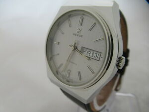 NOS-NEW-VINTAGE-SWISS-MADE-STAINLESS-STEEL-AUTOMATIC-BIG-ANALOG-REVUE-MENS-WATCH