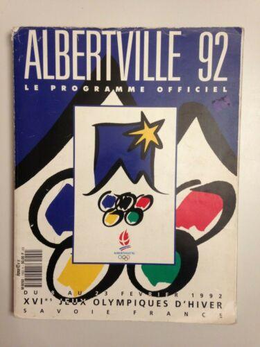 PROGRAMME OFFICIEL XVIe JEUX OLYMPIQUES ALBERTVILLE 92