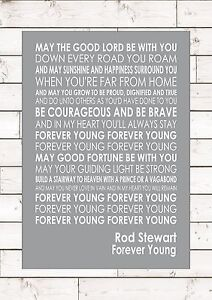 FOREVER YOUNG – ROD STEWART - Word Typography Words Song ...