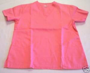 NEW-Scrubs-V-neck-Scrub-Top-LARGE-Pink-Parfait