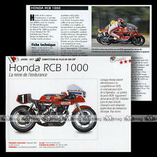 HONDA RCB 1000 1977 Endurance (RACING CB) - Fiche Moto Motorcycle Card MRC