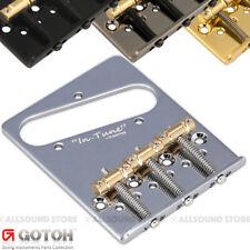 Gotoh GTC202 Telecaster Style Guitar Bridge Tele Steel Saddles w// screws GOLD