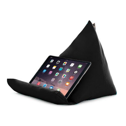 Noir tablette livre reste coussin bean sac coussin support iPad Kindle siège outdoor