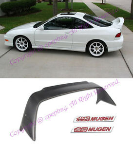 MUGEN Style Rear Trunk Wing Spoiler W// Black Emblems For 94-01 Integra 3Dr DC2