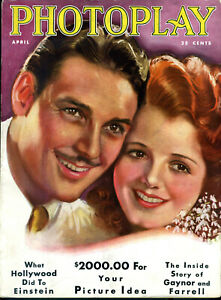 PHOTOPLAY-APR-1931-Janet-Gaynor-amp-Charles-Farrell-cover-Earl-Christy-FINE