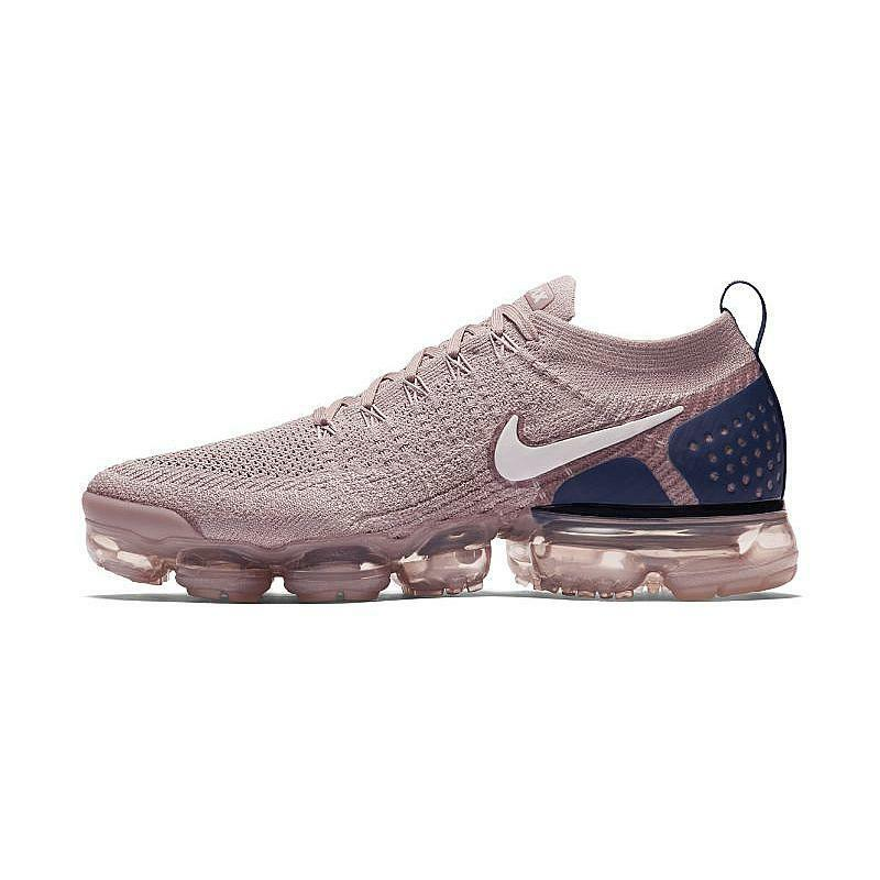 Nike Air Vapormax Flyknit 2.0 Diffused Taupe Navy Pink Men's Running 942842-201 The latest discount shoes for men and women