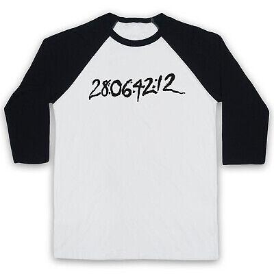 Darko Numbers Tattoo Sci Fi Film Medium White Black 3 4 Sleeve Baseball Tee Ebay