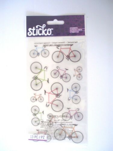 STICKO COLORFUL BICYCLES SCRAP BOOK STICKERS
