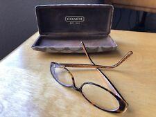 923408e01876 COACH Becky 507 Women s Tortoise Rx Designer Eyeglasses Frames 135 CASE  vintage