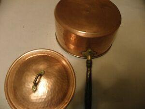 Vintage-hammered-copper-8-quart-saucepan-marked-Turkish-BX-Incirlik