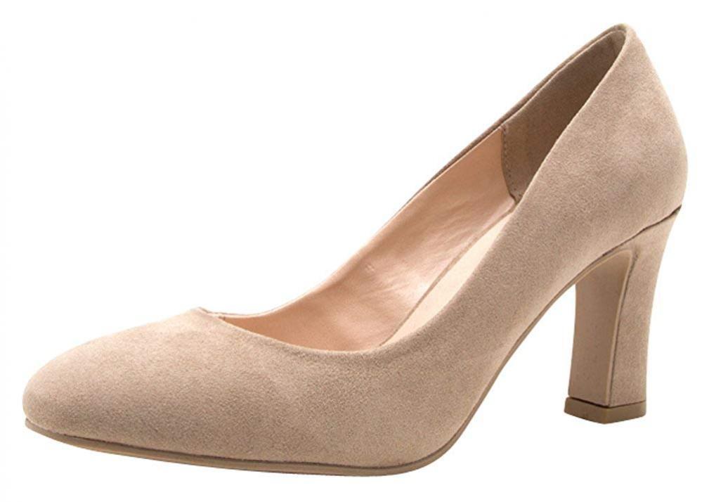 Cambridge seleccionar Para Mujer Cerrado Almendras Toe Slip-on Slip-on Slip-on Acampanado escultórica Tacón Bomba 20c7b6