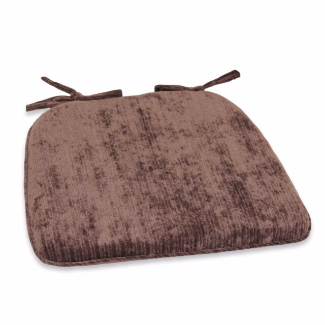 Brown Memory Foam Tieback Chair Pad Home Kitchen Dining Room Padded Seat Cushion