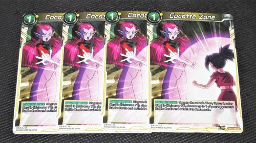 x4 Cocotte Zone TB1-096 UC Dragon Ball Super TCG Near Mint