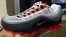 Nike Air Max 24-7 mens sz 8.5 NIB Rare Exclusive Neutral Grey/Orange Blaze