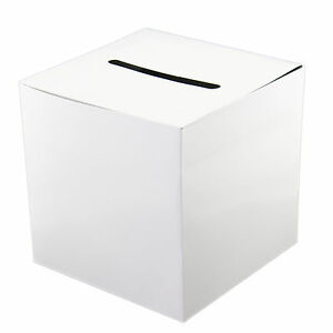 White-Plain-Cardboard-Wedding-Money-Box-Wishing-Well-Cards-Memory-Centerpiece