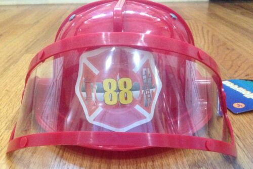 Deluxe Red Fire Hat w//visor Fireman Firefighter Halloween Costume Accessory New