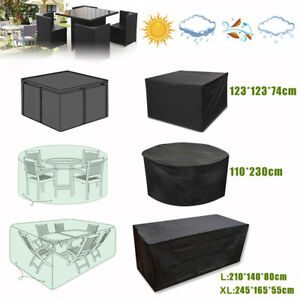 Rainproof Patio Furniture.Details About Outdoor Garden Patio Furniture Cover Rainproof Table Chairs Cube Round Sun Shade