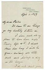Grover Cleveland - Autograph Letter Signed - Must Provide Info on His Biography