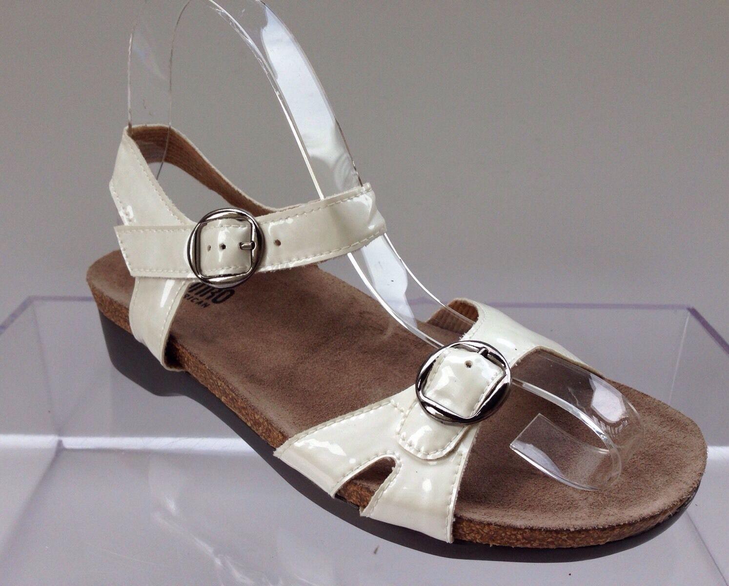Munro Slingback blanc Metallic Sandals femmes Taille 6 W  150