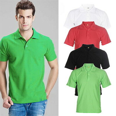 Stylish Men's Cotton Short Sleeve Slim Fit Polo Shirt T-Shirts Casual Shirts FE