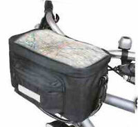 NEW INSULATED BICYCLE HANDLEBAR BAG BIKE CYCLE FRONT PANNIER + MAP HOLDER