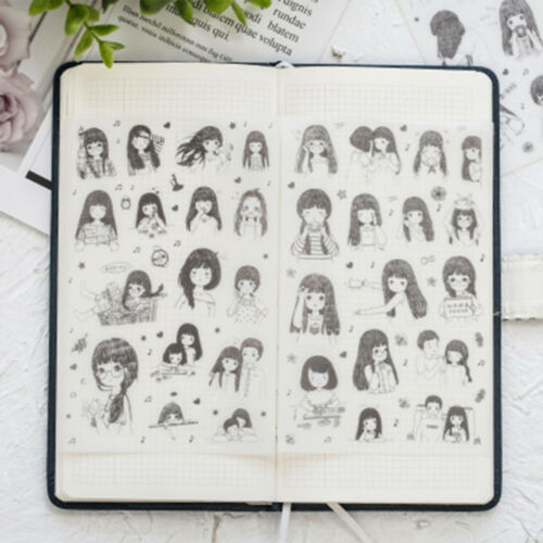 Exquisite Meet Young Girl DIY Sealing Sticker Hand Account  Albums Decoration