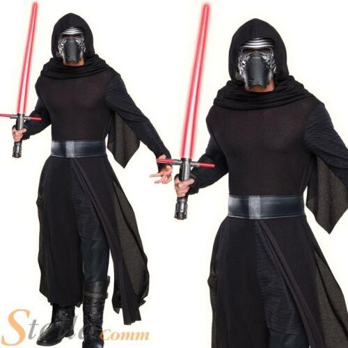Mens Deluxe Kylo Ren Costume Star Wars Force Awakens Halloween Fancy Dress