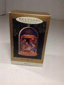 1996-Hallmark-Keepsake-Ornament-Let-Us-Adore-Him-Magic-Light-QLX7381-MIB