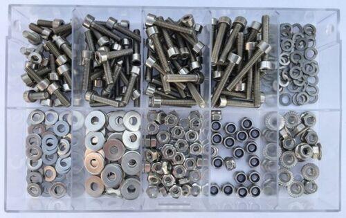 Sortiment  Fahrradbox  Zylinderschrauben + Muttern M4 DIN 912  V2A  340 Teile
