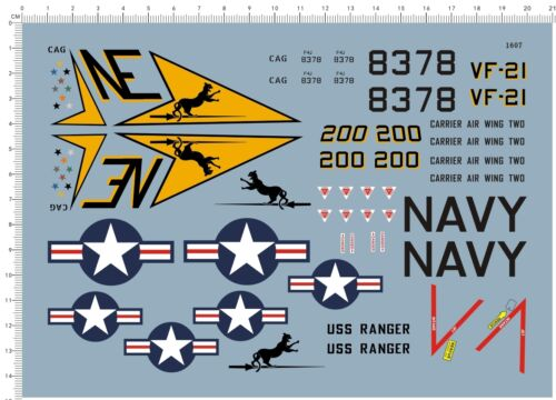 Detail Up 1//32 US Air Force USAF F4 Phantom VF21 VF-21 Fighter Model Kit Decal