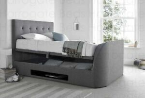 Marvelous Details About 5Ft King Size Kaydian Barnard Tv Ottoman Storage Bed Wool Smoke Grey Fabric Forskolin Free Trial Chair Design Images Forskolin Free Trialorg