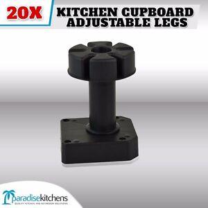 20-X-PLASTIC-KITCHEN-CUPBOARD-ADJUSTABLE-LEGS-VANITY-laundry-garage-new