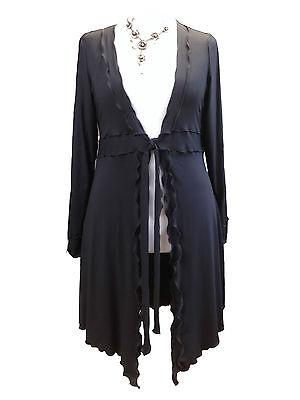 Cerca Voli C114 Ann Lagenlook Eccentrico Caroline Black Tie In Vita Un Cardigan/giacca Made In Uk-mostra Il Titolo Originale