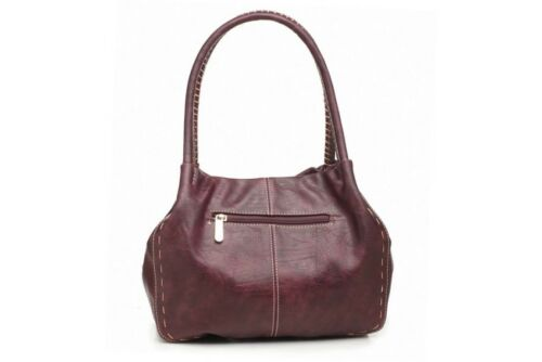 BW446 Bessie London Tote Button Bag in Black