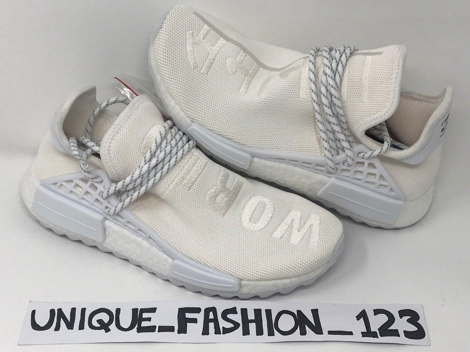 Adidas NMD raza humana x Pharrell Hu PW 6 7 Holi 8 9 10 Trail Holi 7 lienzo en blanco blanco 85411c