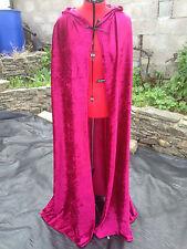 Vino colorati schiacciata Velluto Mantello Con Cappuccio