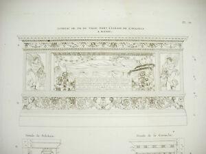 Grandjean De Montigny 1813 Tombeau De P R De Valle Eglise De L'araceli à Rome