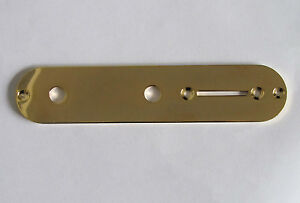Gold Fender Telecaster Electric Guitar Control Plate