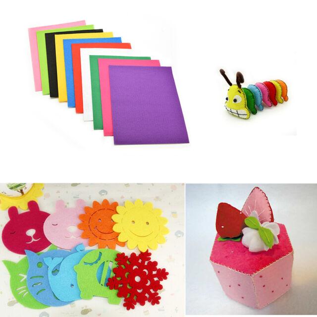 10 Colors/lot 30X20cm Non-woven Felt Fabric Kids DIY Craft 2mm Thick