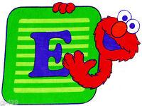 7 Sesame Street Elmo Abc Character Fabric Applique Iron On