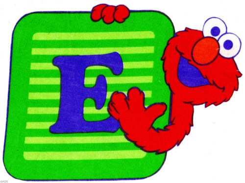 "7/"" Sesame street elmo abc fabric applique iron on character"