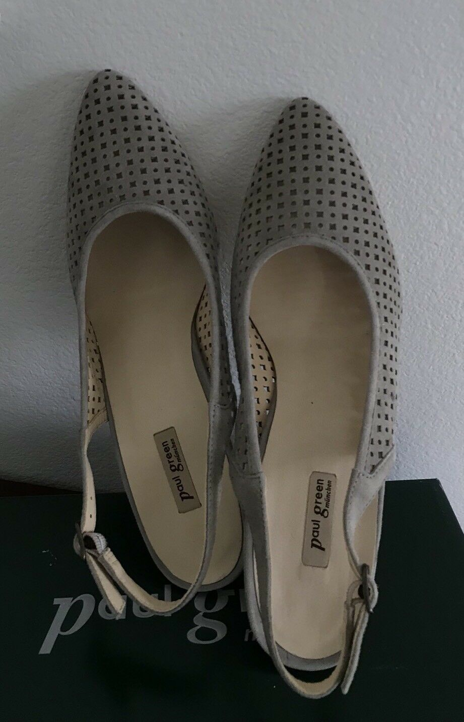 NWB Paul Green munchen Bilbao Taupe Taupe Taupe Suede Leather Slingback Pumps SZ 10US  7.5UK 4dd9bc