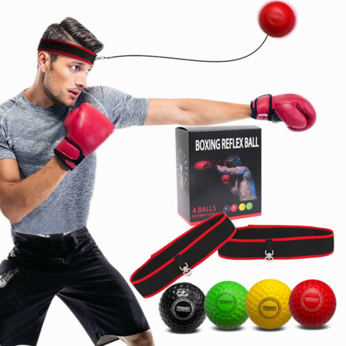 Fight Ball Reflex Boxing Trainer Training Speed Punch Head Band String Ball Kit