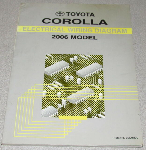 2006 Toyota Corolla Electrical Wiring Diagram Service Manual