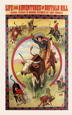 POSTER ELLENSBURG WASHINGTON COW RIDING RODEO COWGIRL WEST VINTAGE REPRO FREE SH