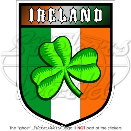 IRLANDE Irlandais Eire Trèfle Bouclier 100mm Vinyle Autocollants Stickers