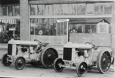 """12 By 18"""" Black & White Picture 1927 Fordson Tractor Dealer Display"""
